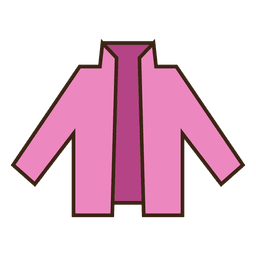 Stroke pink blazer clothing icon