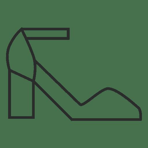 Stroke shoes heels Transparent PNG