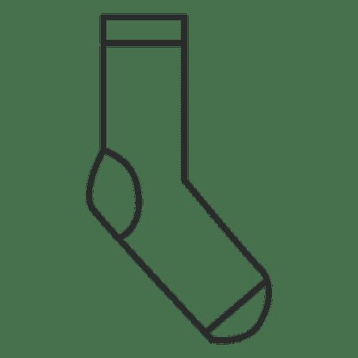 Stroke sock clothing Transparent PNG
