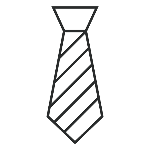 Stroke striped tie clothes Transparent PNG