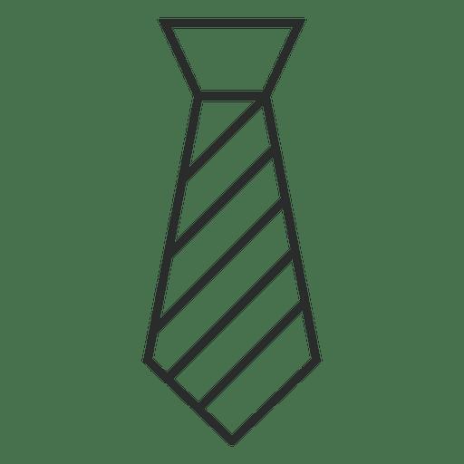 Stroke striped tie clothes