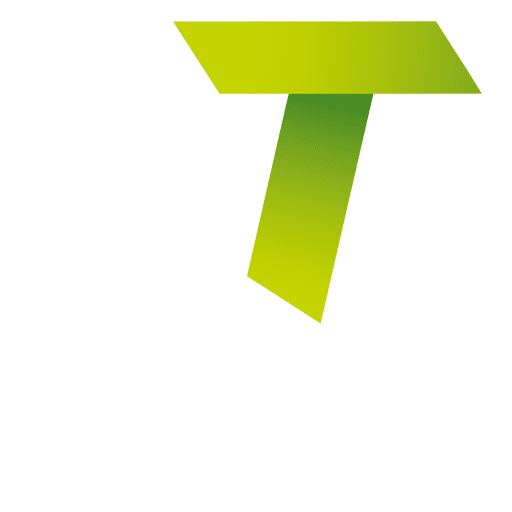 Isotipo origami letra t