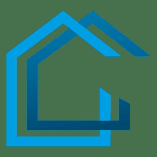Icono de casas de triángulo