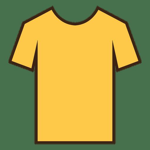 Yellow stroke tshirt clothes