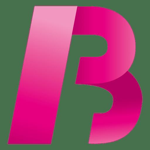 Isotipo origami letra b
