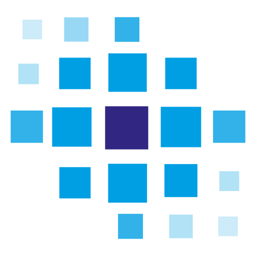 Blue pixilated tiles logo png