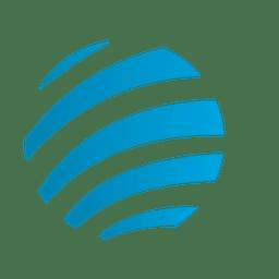 Ícone de órbita de listras azuis