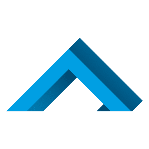 Blue triangles real estate icon Transparent PNG