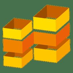 Boxes real estate icon