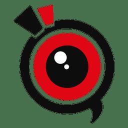 Logotipo de marketing de lentes de cámara