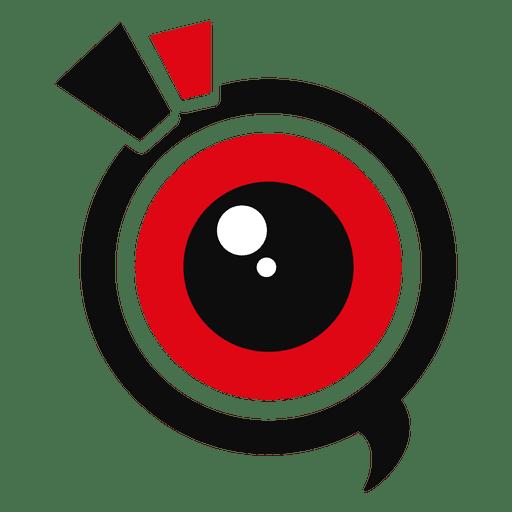Camera lens marketing logo