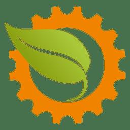 Icono de hoja de rueda dentada