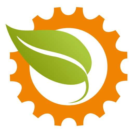 Cogwheel leaf icon Transparent PNG