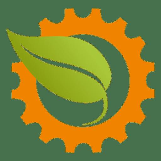 Cogwheel leaf icon