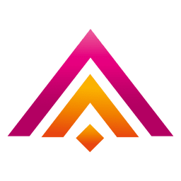 Colored triangles real estate logo