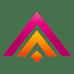 Logo de inmobiliaria de triángulos coloreados