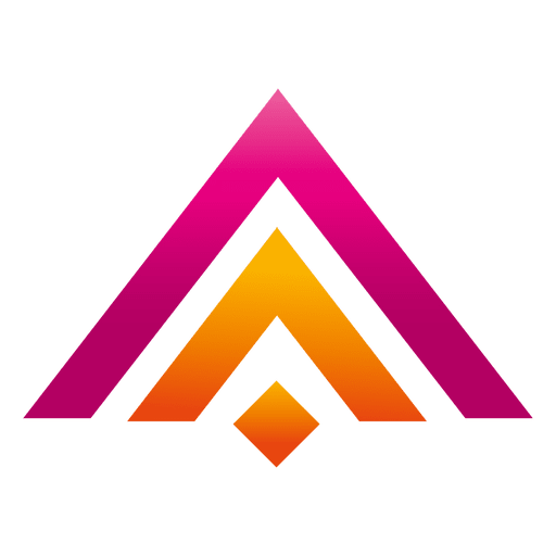 Colored triangles real estate logo Transparent PNG