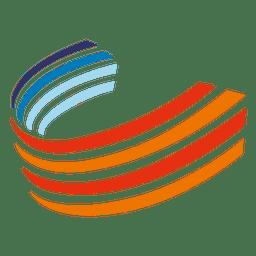 Icono de curvas coloridas