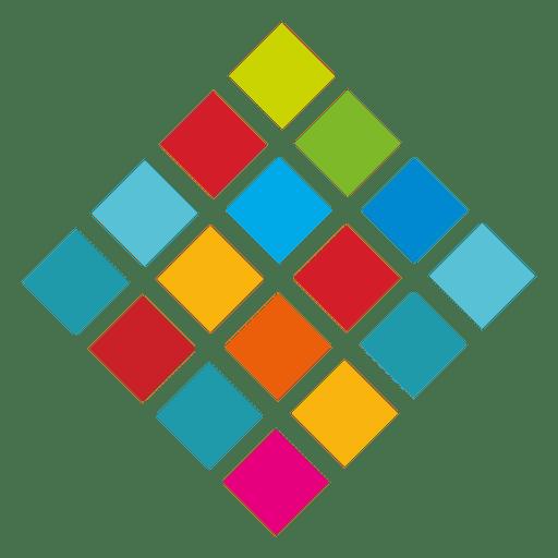 Colorful diamond cubes logo