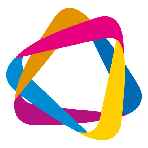 Colorful orbit triangles icon Transparent PNG