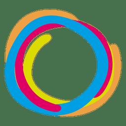 Icono de anillos de pintura colorida