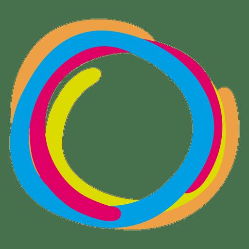 Bunte Farbe schellt Ikone Transparent PNG