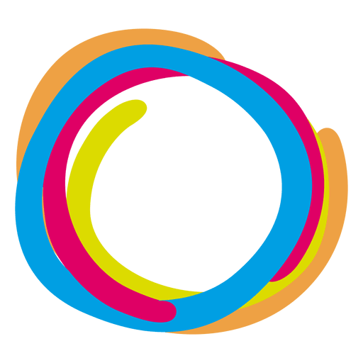 Colorful paint rings icon