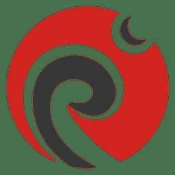 Logo de remolinos curvos