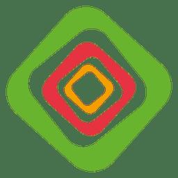 Diamond rectangular strokes logo
