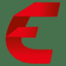 Isotipo de origami de letra E
