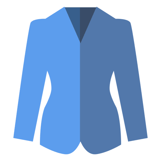 Flat blue blazer clothing icon Transparent PNG