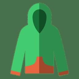 Camisola verde plana
