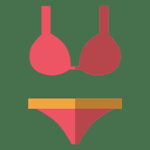 Flat pink bikini underwear