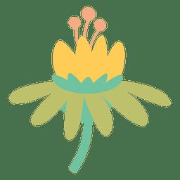 Doodle de flores de colores