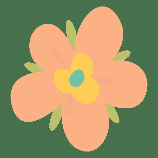Flower doodle illustration pink
