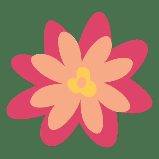 Flor doodle ilustración simple