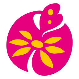 Pink flower plant icon