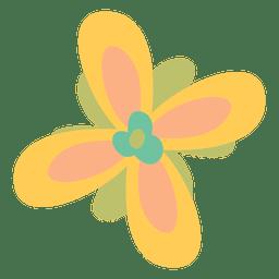 Flor amarilla ilustracion