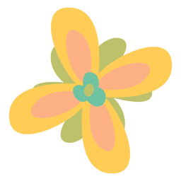 Flower yellow illustration