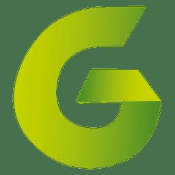 Isotipo de origami de letra G