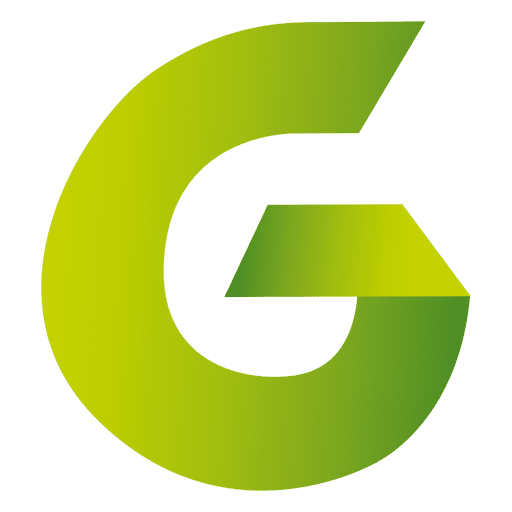 Isotipo origami letra g