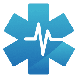 Heartbeat star medical logo