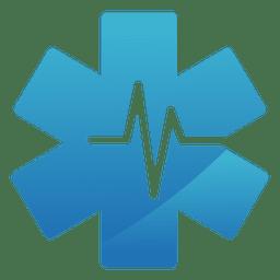 Logotipo médico da estrela do batimento cardíaco
