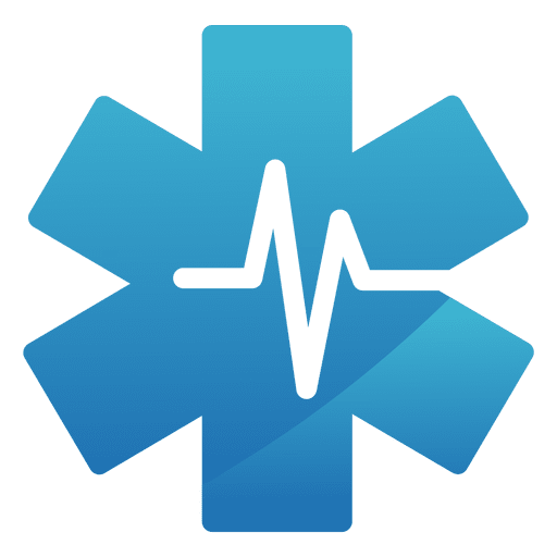 Heartbeat star medical logo Transparent PNG