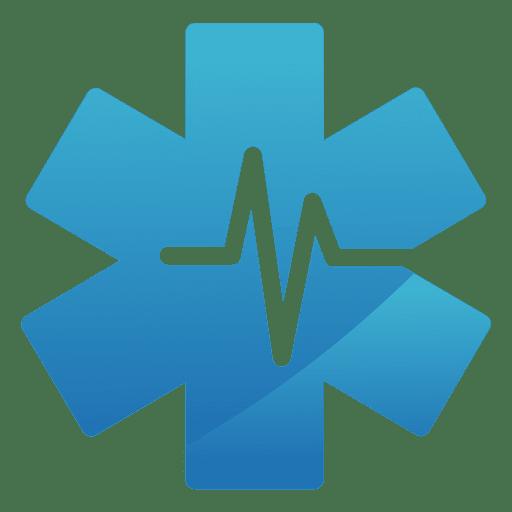 Logotipo médico da estrela do batimento cardíaco Transparent PNG