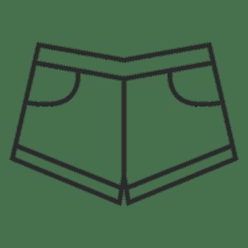 Jean short clothing stroke Transparent PNG