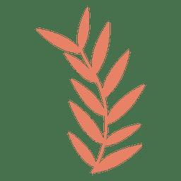 Dibujo de ilustración de hojas.