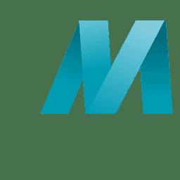 Isotipo de origami de letra M