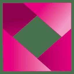 Logo cuadrado de diamante majenta