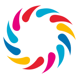 Multicolor swirls circle logo